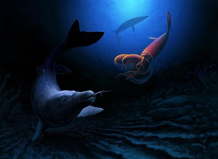 8米長! 科學家在摩洛哥發現巨大的滄龍科海蜥蜴化石
